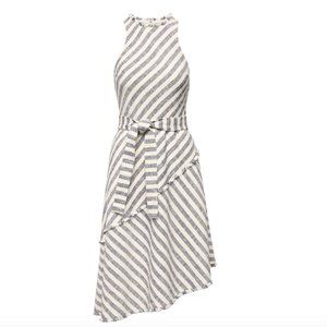 NWOT Banana Republic Stripe Asymmetrical Hem Dress